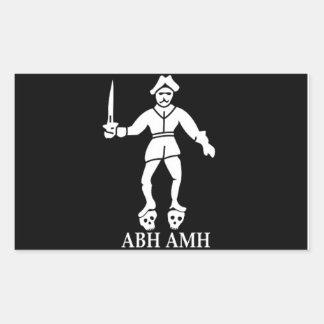 Pegatina de la bandera de pirata de Bartholomew