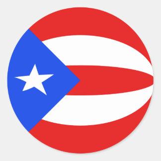 Pegatina de la bandera de Puerto Rico Fisheye
