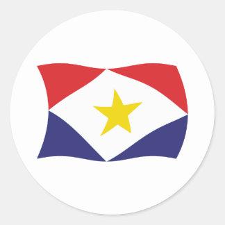 Pegatina de la bandera de Saba