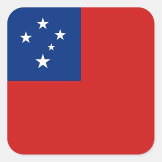 Pegatina de la bandera de Samoa