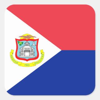 Pegatina de la bandera de San Martín