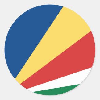 Pegatina de la bandera de Seychelles