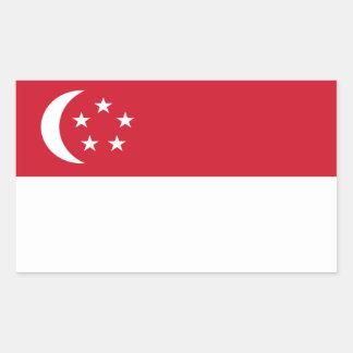 Pegatina de la bandera de Singapur