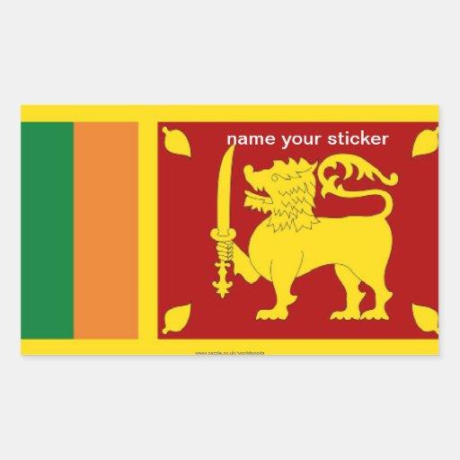 Pegatina de la bandera de Sri Lanka