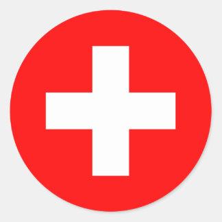 Pegatina de la bandera de Suiza