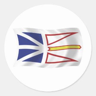 Pegatina de la bandera de Terranova y de Labrador