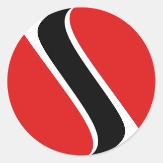 Pegatina de la bandera de Trinidad and Tobago