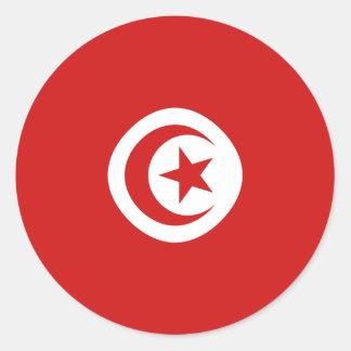Pegatina de la bandera de Túnez Fisheye