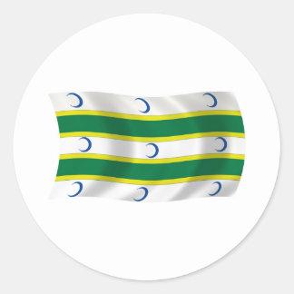 Pegatina de la bandera de turcomanos