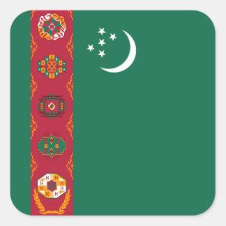 Pegatina de la bandera de Turkmenistán