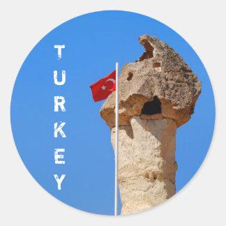 Pegatina de la bandera de Turquía