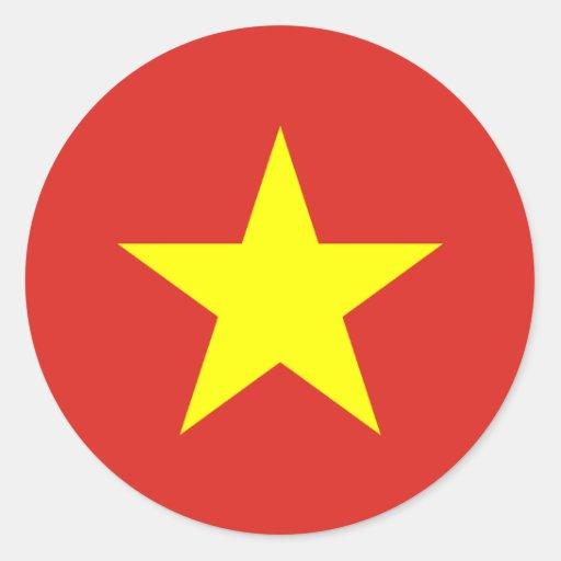 Pegatina de la bandera de Vietnam