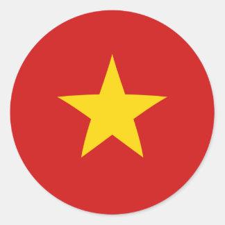 Pegatina de la bandera de Vietnam Fisheye