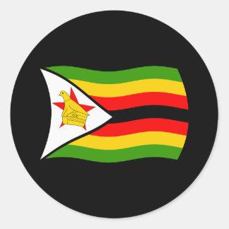 Pegatina de la bandera de Zimbabwe