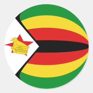 Pegatina de la bandera de Zimbabwe Fisheye