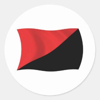 Pegatina de la bandera del Anarcho-Sindicalismo