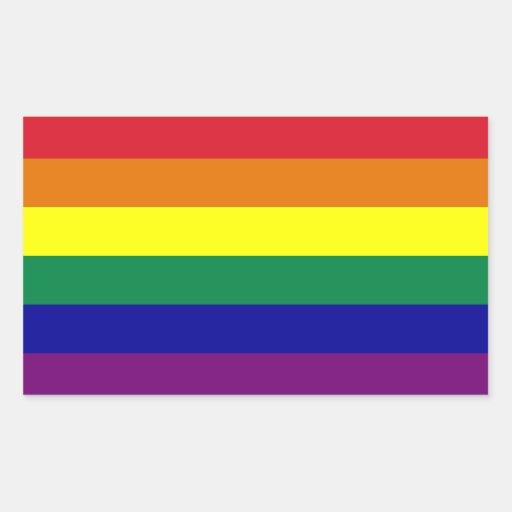 Pegatina de la bandera del arco iris