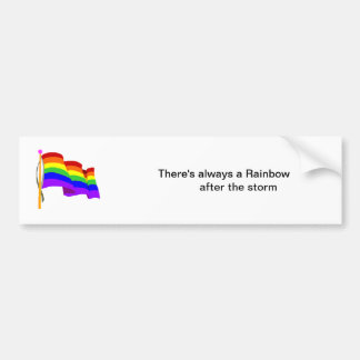 Pegatina de la bandera del arco iris etiqueta de parachoque