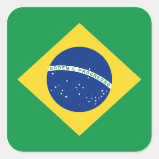 Pegatina de la bandera del Brasil