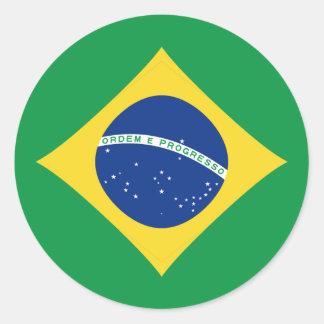 Pegatina de la bandera del Brasil Fisheye