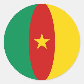 Pegatina de la bandera del Camerún Fisheye