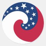 Pegatina de la bandera del círculo