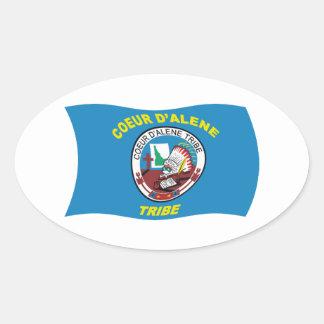 Pegatina de la bandera del d'Alene de Coeur