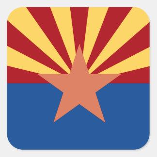 Pegatina de la bandera del estado de Arizona