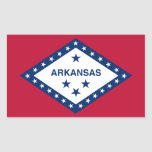 Pegatina de la bandera del estado de Arkansas