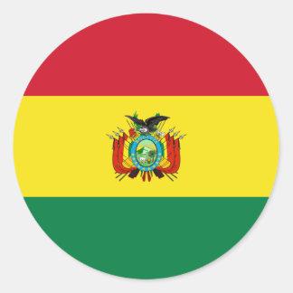 Pegatina de la bandera del estado de Bolivia