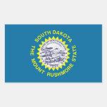 Pegatina de la bandera del estado de Dakota del Su