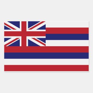 Pegatina de la bandera del estado de Hawaii