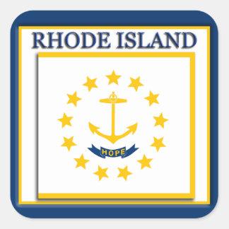 Pegatina de la bandera del estado de Rhode Island