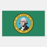 Pegatina de la bandera del estado de Washington
