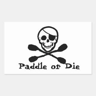 Pegatina de la bandera del kajak del pirata