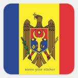 Pegatina de la bandera del Moldavia