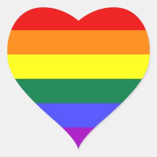 Pegatina de la bandera del orgullo del arco iris