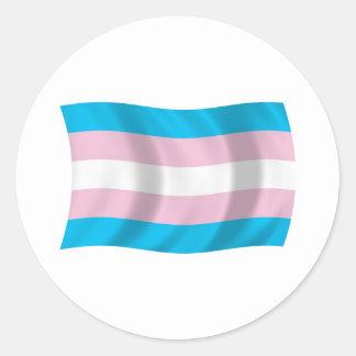 Pegatina de la bandera del orgullo del transexual