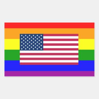 Pegatina de la bandera del orgullo gay de LGBT