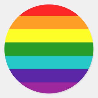 Pegatina de la bandera del orgullo gay del arco