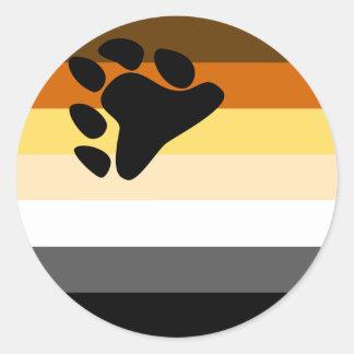 Pegatina de la bandera del oso