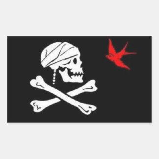 Pegatina de la bandera del pirata de Jack Sparrow