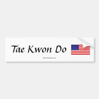 Pegatina de la bandera del Taekwondo Pegatina Para Auto