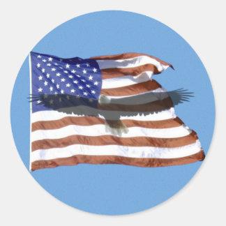 Pegatina de la bandera y de Eagle