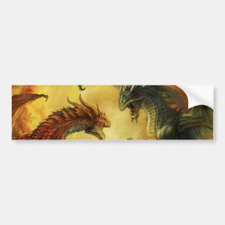 Pegatina de la batalla del dragón pegatina para auto