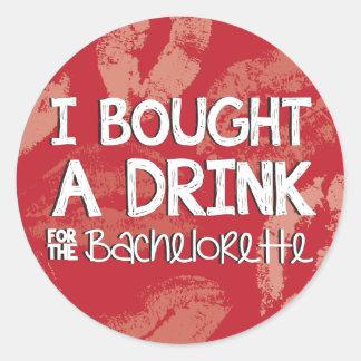 Pegatina de la bebida del fiesta de Bachelorette