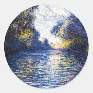 Pegatina de la bella arte de Monet río Sena