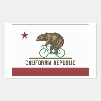Pegatina de la bici del oso de California