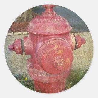 Pegatina de la boca de incendios