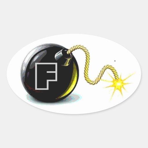 Pegatina de la bomba de F